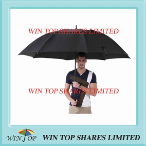 "34"" pongee windproof business man golf umbrella"