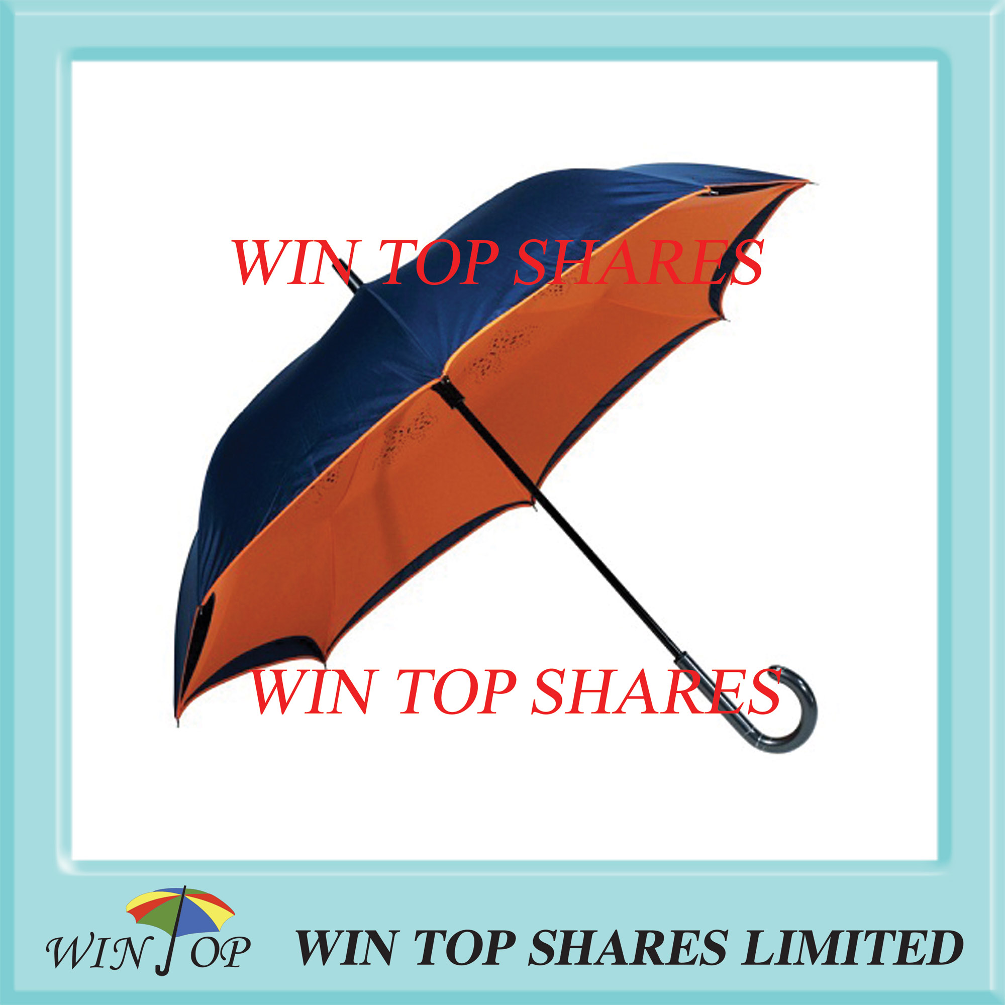 Innovation black and orange wind resistance reverse umbrella