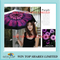 Brand new 3 folds Anti UV black adhesive Violet umbrella
