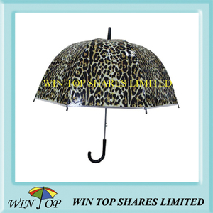 Leopard Design Auto Straight Poe Umbrella