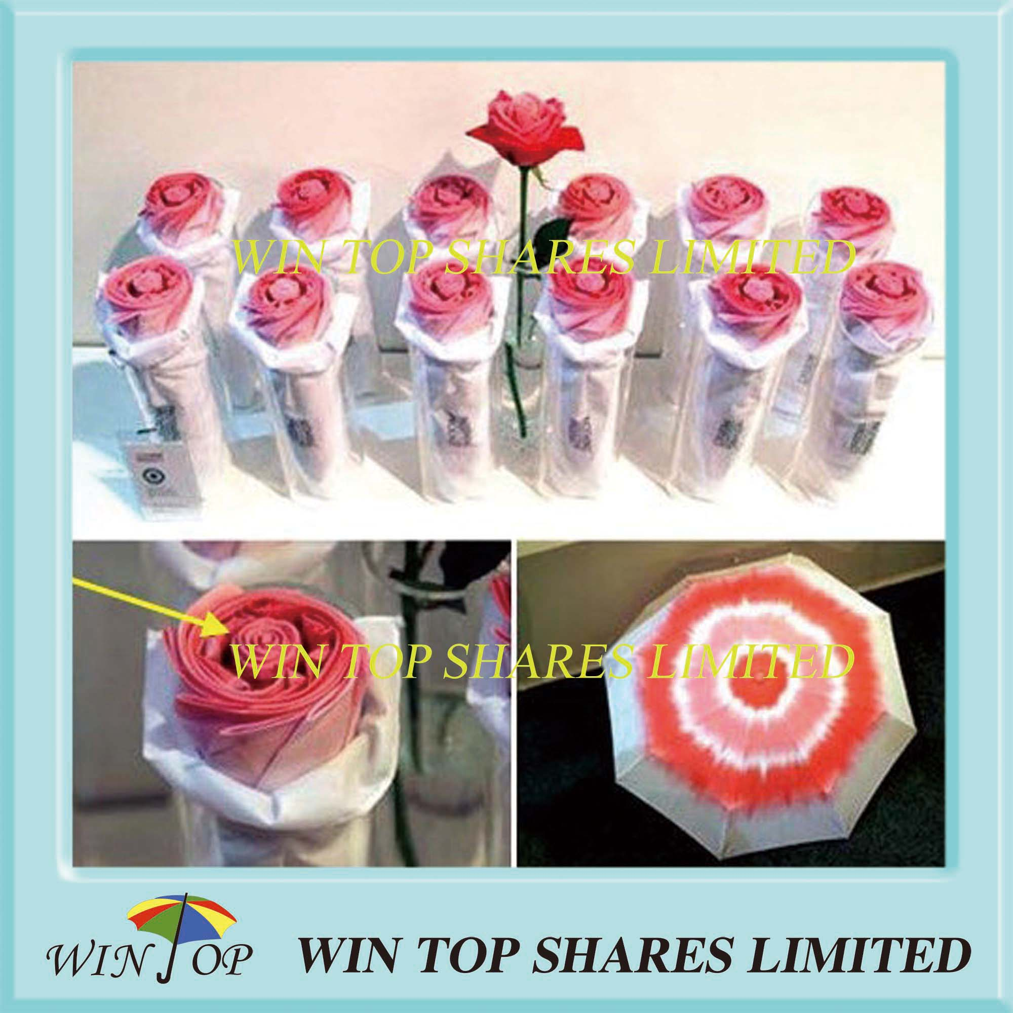 Rose Style Printing Elegant Umbrella