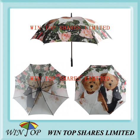 High Quality All Over Digital Printing Tiger Umbrella