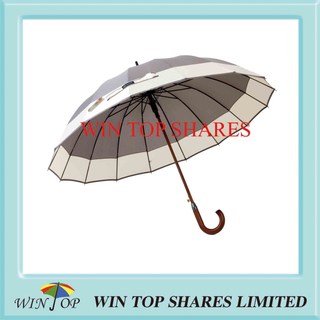 2 Colors Joining Auto Wood Sun Gift Umbrella