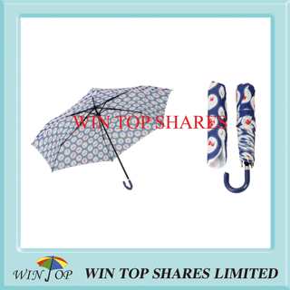 50cm X 6k 3 Folding Hand Open Printed Umbrella