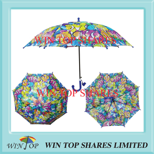 "17"" New popular polyester Printed Umbrella"