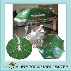 Promotion Green PVC Beach Umbrella (WT7055)