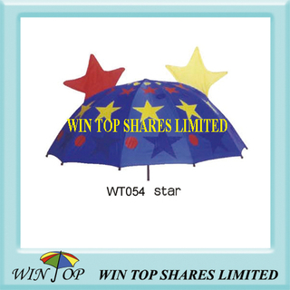 Sky Stars Cartoon Lovely Kid Umbrella Exporter