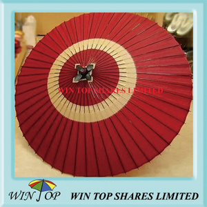 Japan style red paper craft umbrella