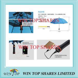 Solar Energy mobile USB charger electricity fan Umbrella