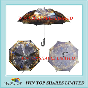 City scenery hot transfer printing Auto children Umbrella
