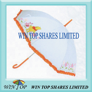 "23"" Auto Advertising PVC Umbrella with Lace"