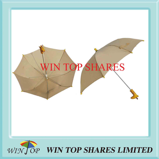 Deer Pattern Style Handle Children Umbrella