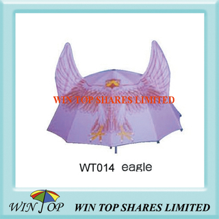 Pink Color Eagle Design Cartoon Umbrella (WT014)