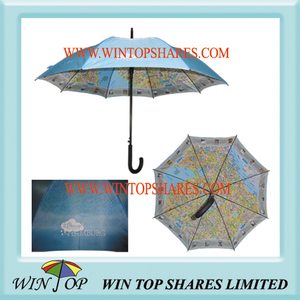 Double Layers Promotion Map Umbrella