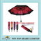 UV Resistance 3 Folds Red Rose Compact Umbrella