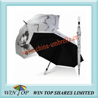 Heat Transfer Printing Long Golf Umbrella (WT5032)