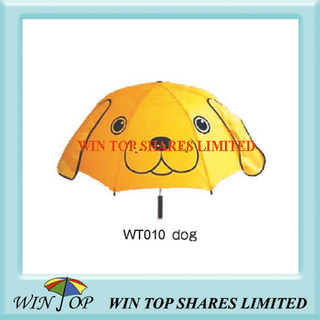 "18"" Lovely Dog Style Yellow Cartoon Umbrella"