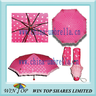 DOT Design Ladies Folding Umbrella with Lace