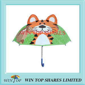 Innovation Fashion Green leaf tiger kid umbrella