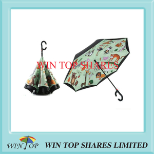 Magical Forest Topic Auto Invert umbrella
