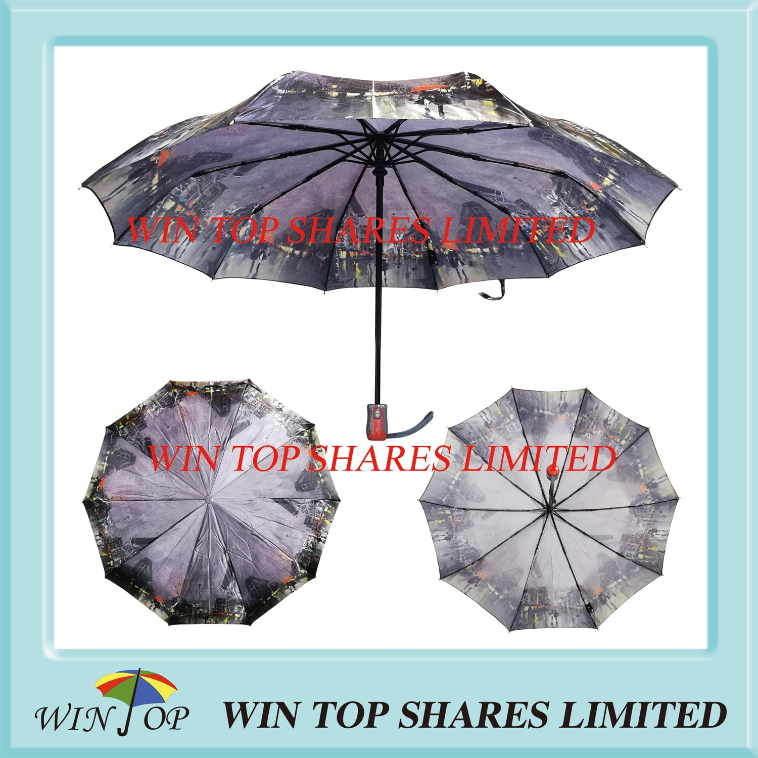 Top quality Full Auto Windproof Fashion Design Umbrella