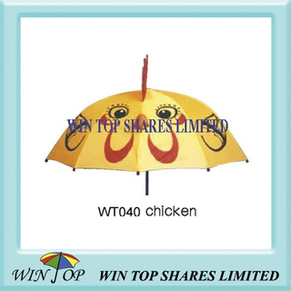 Cute Chicken Style Imprinting Children Umbrella