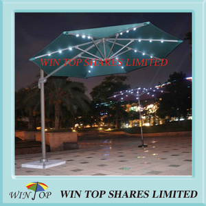 3.0m Solar Light Garden Umbrella for Outdoor and Patio