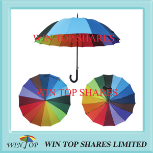 German standard classic auto stick rainbow umbrella