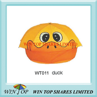 "18"" Orange and Yellow Duck Cartoon Umbrella"