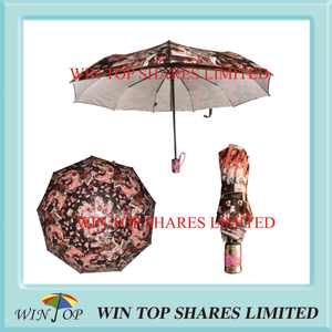 Super Fine Satin Sublimation Full Auto Umbrella
