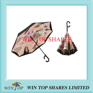 Caribbean pirate Captain Jack Auto reversing umbrella