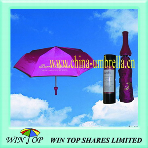 "21"" Best Seller Advertising Wine Bottle Umbrella (WT3212)"