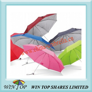 "21"" 3 Folding UV Protective Umbrella"