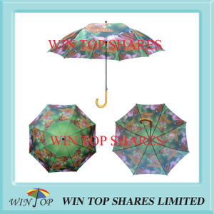 "Arc 54"", Radius 27"" auto straight butterfly Umbrella"