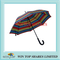 Superior Stripe Design Auto Patent Gift Umbrella