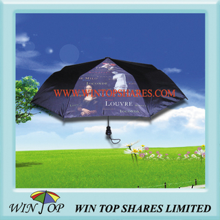 3 Folds Art Umbrella with Printing
