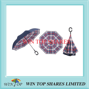 British red burberry prints reversed car umbrella