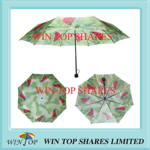 Bright Nature insect bug sublimate 3 section Umbrella