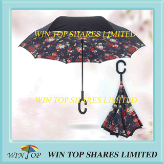 Rose stylish fashion and vogue reverse umbrella wholesaler
