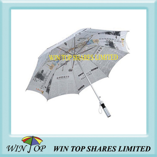 Straight Aluminum Advertisement Paper Umbrella