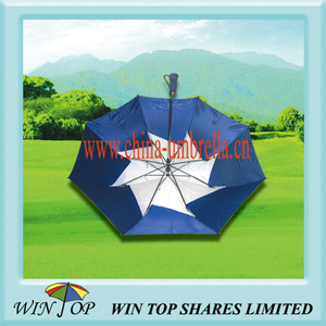 "27"" Double Canopy 2 Fold Golf Umbrella"