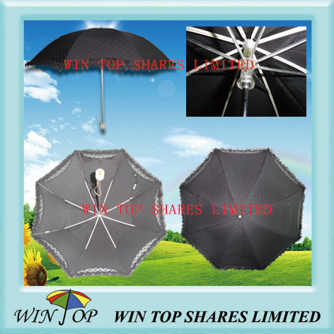Traditional and Elegant Ladies Parasol with Lace (WT2120)