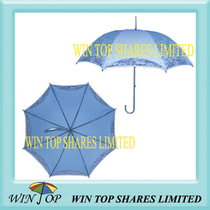 Ladies Aluminum Sun Parasol with Double Canopy