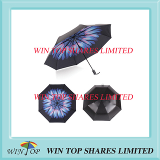 3 folding ultraviolet-proof borage flower popcket Umbrella export
