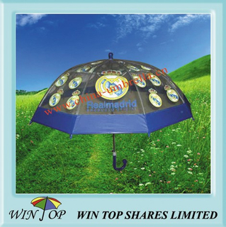 "18"" Auto Straight PVC Umbrella with Logo"
